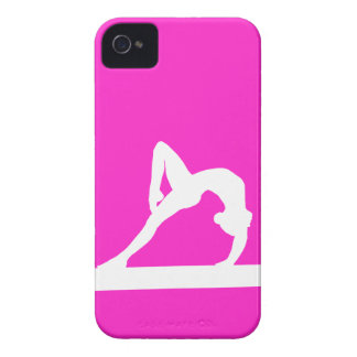 BlackBerry Bold Gymnast Silhouette White on Pink iPhone 4 Covers