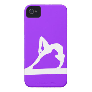 BlackBerry Bold Gymnast Silhouette White on Purple iPhone 4 Cover