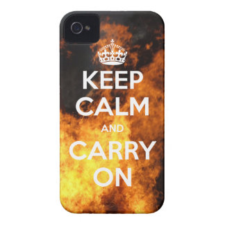 BlackBerry Bold Keep Calm On Fire iPhone 4 Covers