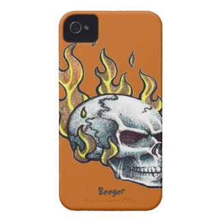 Blackberry bold - Metal Head Skull iPhone 4 Case-Mate Cases