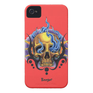 Blackberry bold - Old Skool Tattoo Skull Flames Case-Mate iPhone 4 Cases
