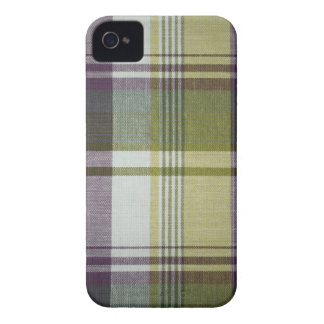 Blackberry Bold Purple & Yellow Plaid iPhone 4 Case-Mate Case