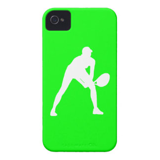 BlackBerry Bold Tennis Silhouette White on Green iPhone 4 Cover