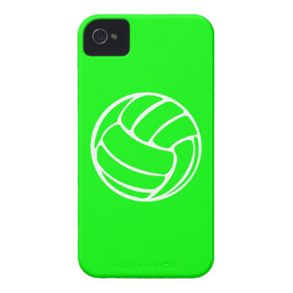 BlackBerry Bold Volleyball White on Green iPhone 4 Case-Mate Case