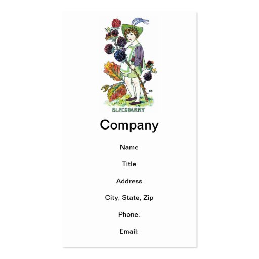 Blackberry Boy Double-Sided Standard Business Cards (Pack Of 100)
