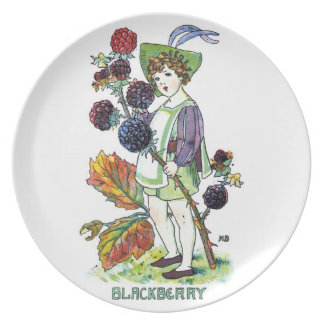 Blackberry Boy Party Plates
