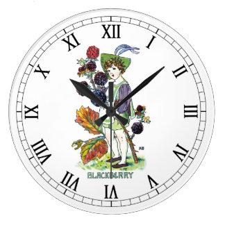 Blackberry Boy Round Clock