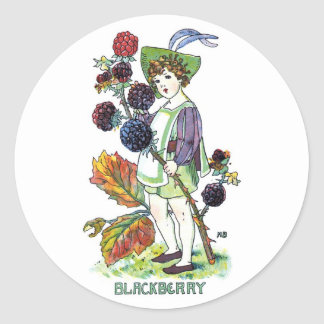 Blackberry Boy Classic Round Sticker