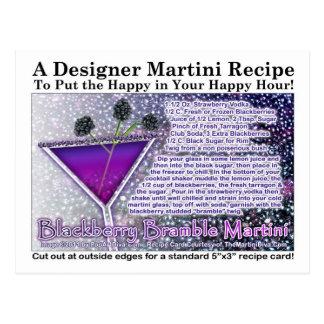 Blackberry Bramble Martini Recipe Postcard