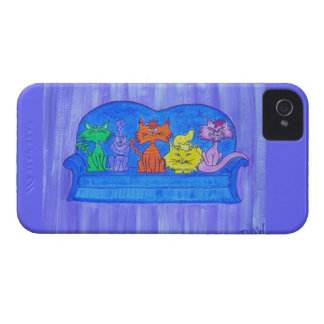 Blackberry Case-Couch Cats iPhone 4 Case