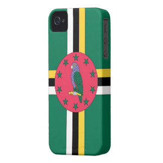 Blackberry Case-Dominica Flag Case-Mate iPhone 4 Case