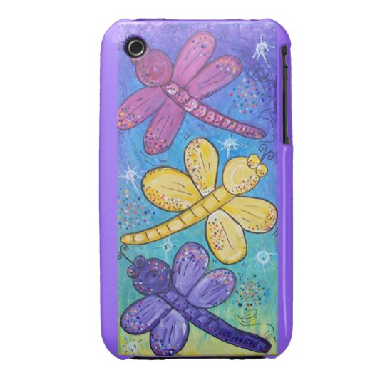 Blackberry Case-Dragonflies at play iPhone 3 Case-Mate Case