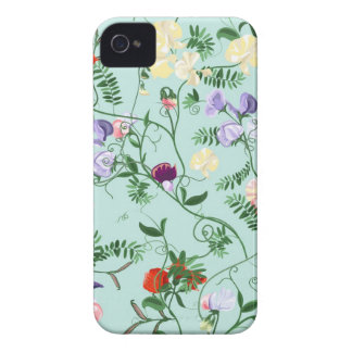 Blackberry case  with decorative sweet pea flowers