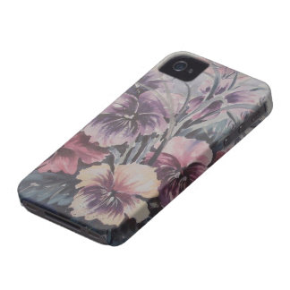BLACKBERRY CASE WITH FLOWERS