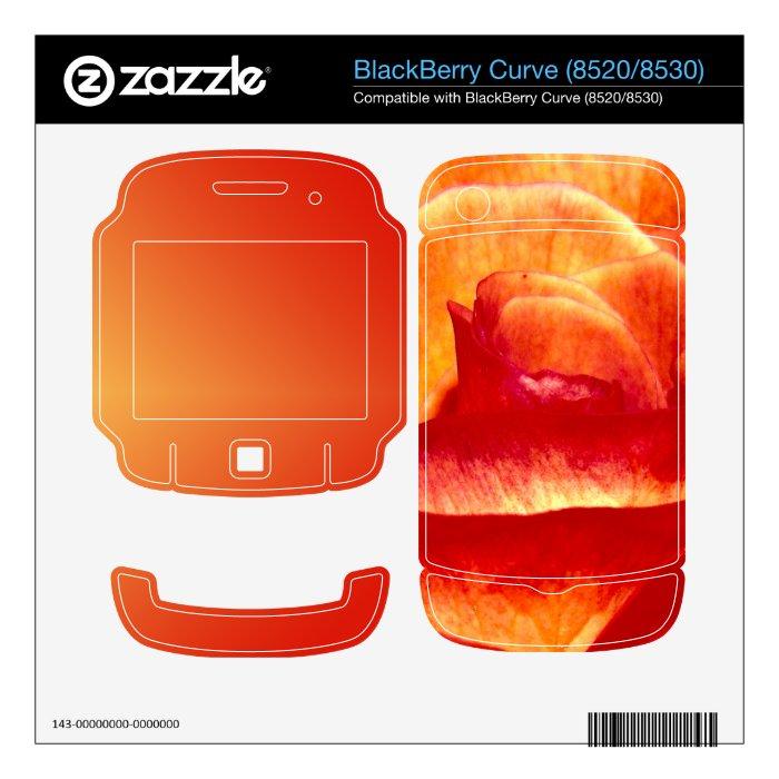 BlackBerry Curve (8520/8530) Skin with Rose Skin For BlackBerry