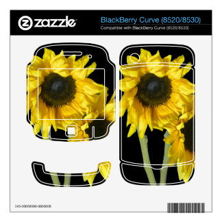BlackBerry Curve (8520/8530) Skin with Sunflowers BlackBerry Skins