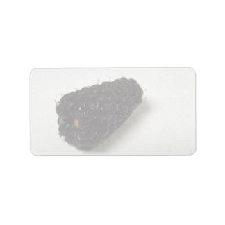 Blackberry delicioso etiqueta de dirección
