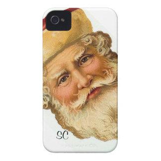 Blackberry - ejemplo de Papá Noel del vintage iPhone 4 Case-Mate Protector