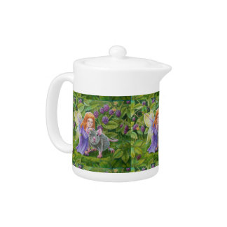 Blackberry Fairy and Pet Mouse Teapot