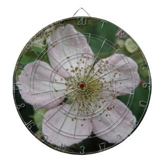 Blackberry Flower Macro Dart Board