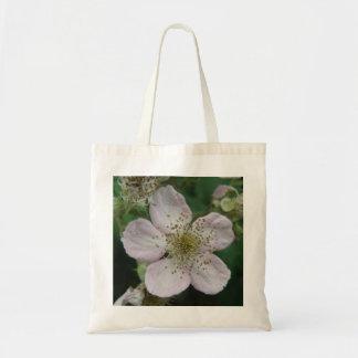 Blackberry Flower Macro Tote Bag