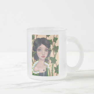 Blackberry Frosted Glass Coffee Mug