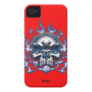 Blackberry intrépido - cráneo cristalino con las Case-Mate iPhone 4 coberturas