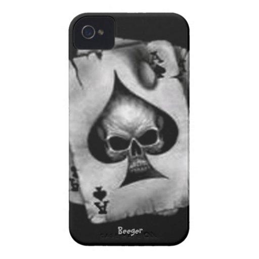 Blackberry intrépido - cráneo de espadas iPhone 4 Case-Mate protector