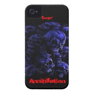Blackberry intrépido - cráneos de la aniquilación Case-Mate iPhone 4 protectores