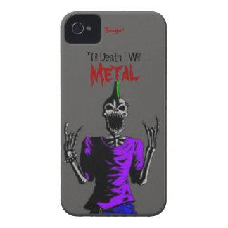 Blackberry intrépido - hasta muerte Metal iPhone 4 Case-Mate Carcasas