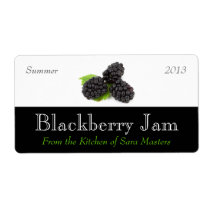 Blackberry Jam Canning Labels