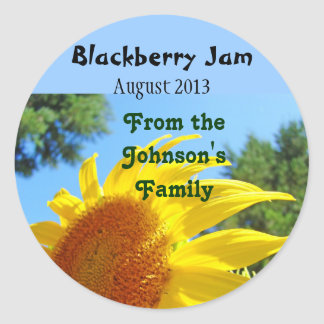 Blackberry Jam canning Labels Stickers Sunflowers