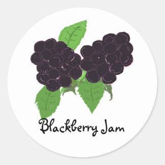 Blackberry Jam Classic Round Sticker