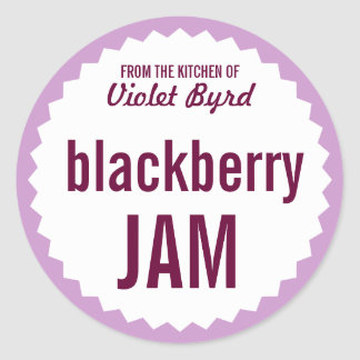 Blackberry Jam Home Canning Label Template Classic Round Sticker