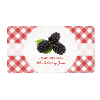 Blackberry Jam label Custom Shipping Label