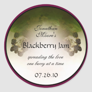 Blackberry Label1 Pegatina Redonda