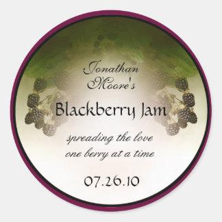 Blackberry Label1 Classic Round Sticker