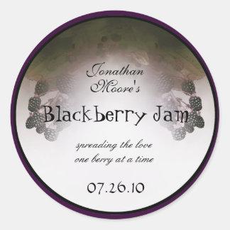 Blackberry Label 2 Classic Round Sticker
