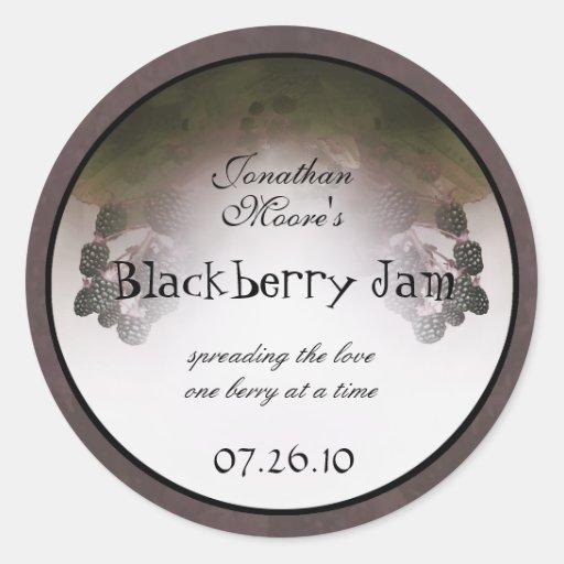 Blackberry Label 2b Round Sticker