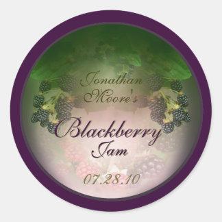 Blackberry label 3c classic round sticker