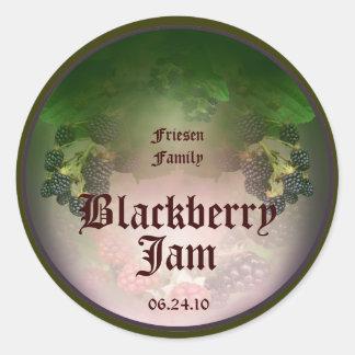 Blackberry Label 4 Classic Round Sticker