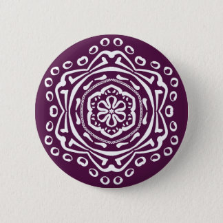 Blackberry Mandala Button