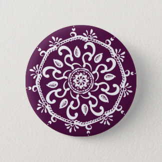 Blackberry Mandala Pinback Button
