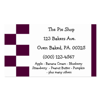 Blackberry Pie Colors Double-Sided Standard Business Cards (Pack Of 100)