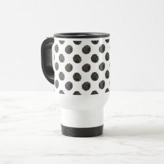 Blackberry. Polka dots. fruits pattern. Travel Mug