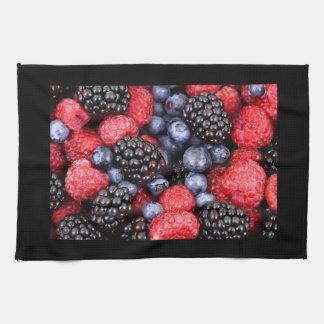Blackberry Raspberry Blueberries Fruit Cobbler Hand Towel