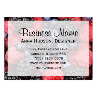 Blackberry, Raspberry, Blueberry, Grapes Large Business Cards (Pack Of 100)