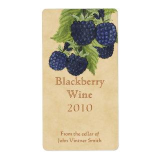 Blackberry wine bottle label