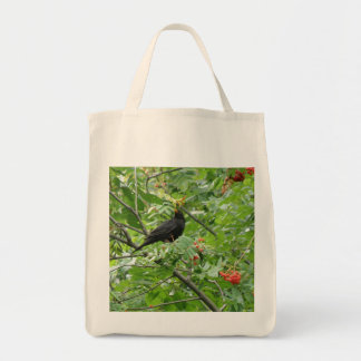Blackbird and berries Organic Grocery Tote bag