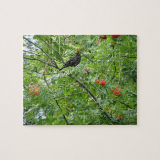 Blackbird and Berries Puzzle
